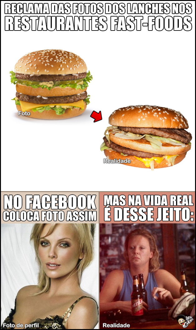 RESTAURANTES Propaganda VS vida real