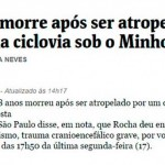 Acidente com bike causa morte de idoso